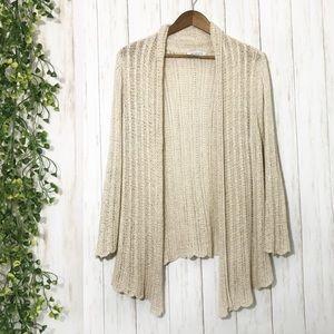 Beige Cardigan Sweater Size Small
